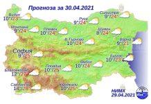 30 апреля 2021 года погода в Болгарии