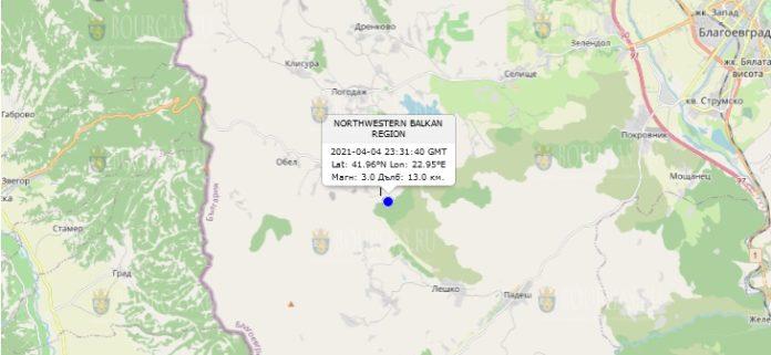 5 апреля 2021 года землетрясение в Болгарии