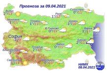 9 апреля 2021 года погода в Болгарии
