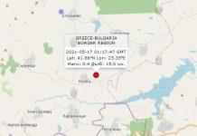 17 мая 2021 года землетрясение в Болгарии