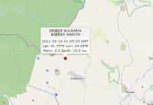 19 мая 2021 года землетрясение в Болгарии