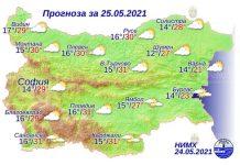 25 мая 2021 года погода в Болгарии