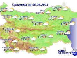 5 мая 2021 года погода в Болгарии