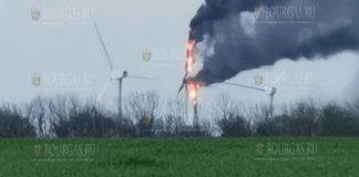 На Востоке Болгарии загорелся ветрогенератор