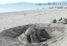 Песочные фигуры Кирилла и Мефодия появились на пляже в Бургасе