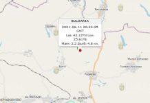 11 июня 2021 года землетрясение в Болгарии