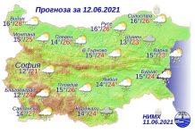 12 июня 2021 года погода в Болгарии