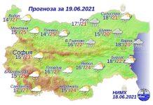19 июня 2021 года погода в Болгарии