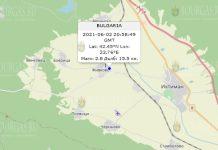 2 июня 2021 года землетрясение в Болгарии