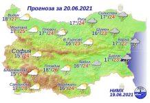 20 июня 2021 года погода в Болгарии