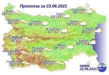 23 июня 2021 года погода в Болгарии