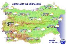 8 июня 2021 года погода в Болгарии