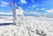 Интересное природное явление накрыло пляж в районе Шаблы