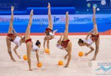 На чемпионате Европы по художественной гимнастике, который в эти дни проходит в Варне, болгарский ансамбль добыл золотые медали в финале в упражнениях с пятью мячами