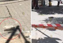 Сегодня в Софии упал кусок здания