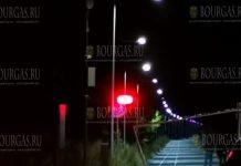Велодорожка в Бургасе, от Капаните до Солниците - с новым освещением