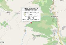 16 июля 2021 года землетрясение в Болгарии