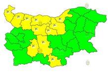 21 июля ветреный Желтый Код в Болгарии