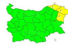 22 июля ветреный Желтый Код в Болгарии
