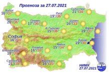28 июля 2021 года погода в Болгарии