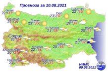 10 августа 2021 года погода в Болгарии