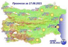 17 августа 2021 года погода в Болгарии