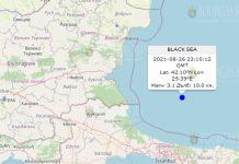 27 августа 2021 года землетрясение в Болгарии