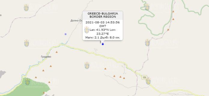 3 августа 2021 года землетрясение в Болгарии