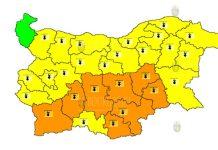 3 августа горячий Оранжевый и Желтый Коды в Болгарии