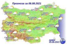 6 августа 2021 года погода в Болгарии