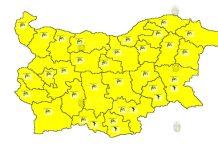 6 августа горячий Желтый Код в Болгарии