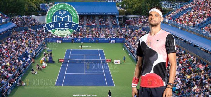 Григор Димитров на турнире Citi Open