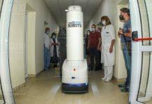 Робот в Болгарии дезинфицирует палаты