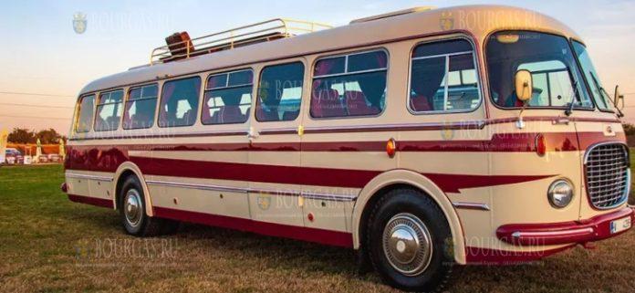 выставка ретро-автобусов в Димитровграде