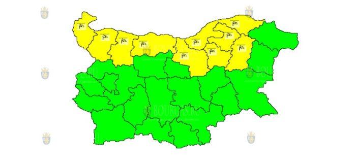 1 сентября веетренный Желтый Код в Болгарии