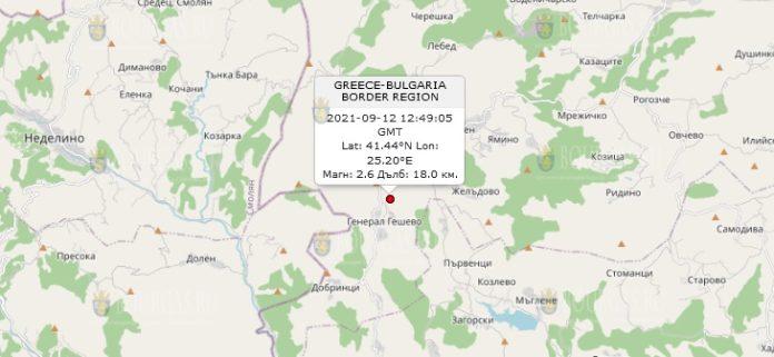 12 сентября 2021 года землетрясение в Болгарии