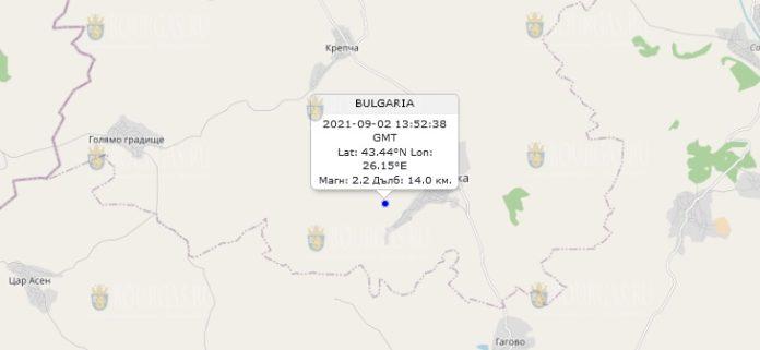2 сентября 2021 года землетрясение в Болгарии
