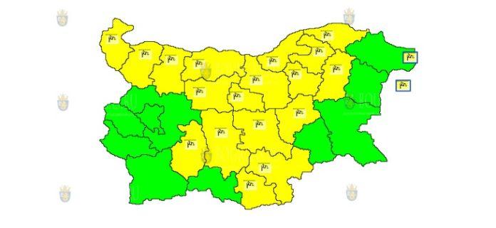 2 сентября веетренный Желтый Код в Болгарии