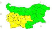 24 сентября холодный Желтый Код в Болгарии