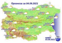4 сентября 2021 года погода в Болгарии