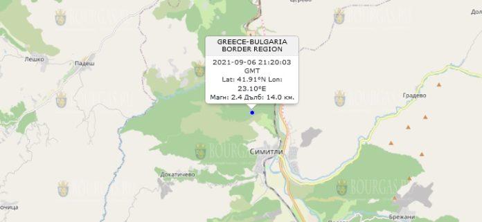 6 сентября 2021 года землетрясение в Болгарии
