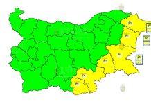 6 сентября веетренный Желтый Код в Болгарии