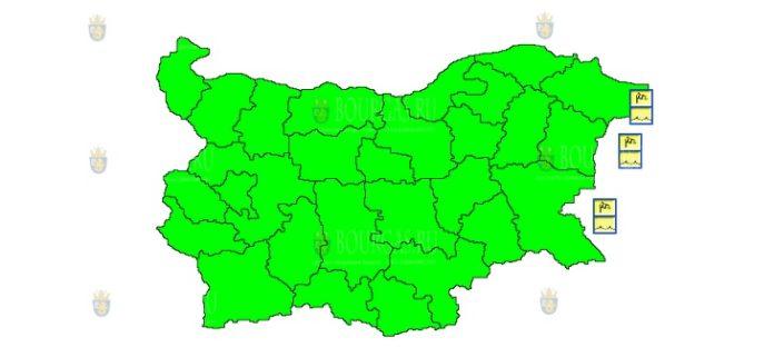 9 сентября штормовой Желтый Код в Болгарии