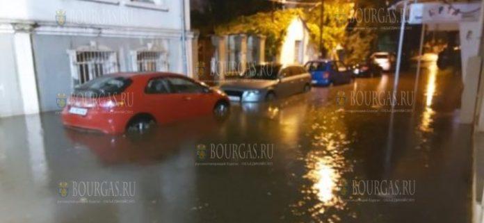 Бургас утонул после двух кратковременных дождей 5-го сентября 2021 года