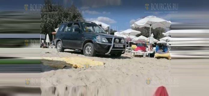 джип на пляже в Кранево