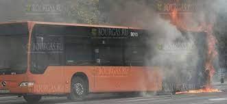 В Софии сегодня загорелся муниципальный автобус