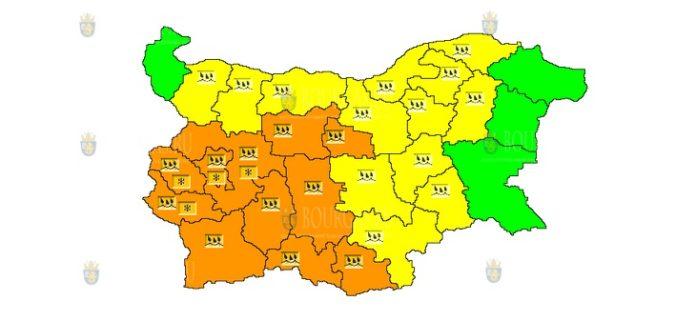 14 октября Оранжевый и Желтый Код в Болгарии