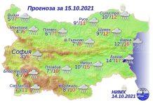 15 октября 2021 года погода в Болгарии