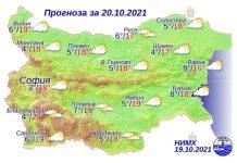 20 октября 2021 года погода в Болгарии