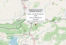 23 октября 2021 года землетрясение в Болгарии